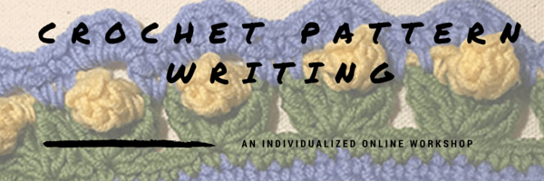 Crochet pattern writing header