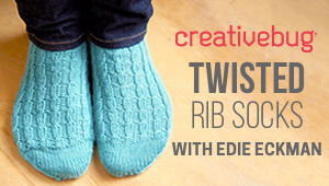 Twisted Rib Socks with Creativebug
