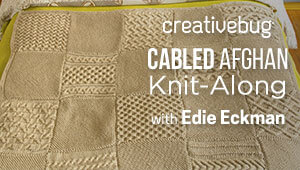 Cabled Afghan Knit Along