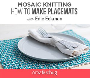 Mosaic Knitting How to Make Placemats Creativebug