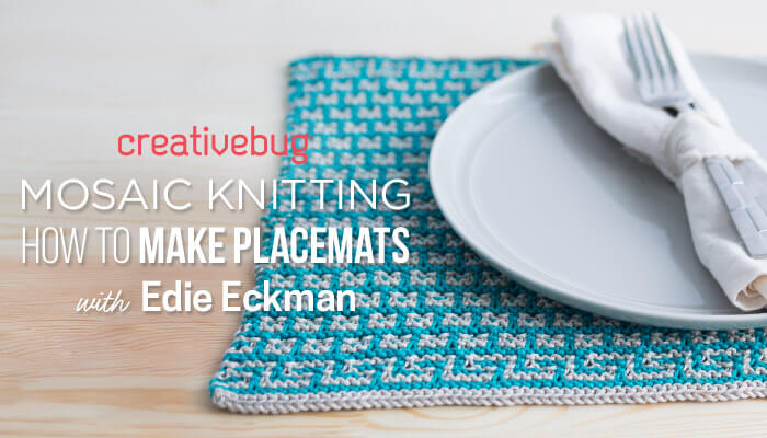 Mosaic Knitting How to Make Placemats with Creativebug