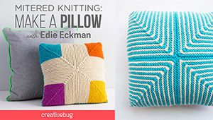 Mitered Knitting Make a Pillow Creativebug