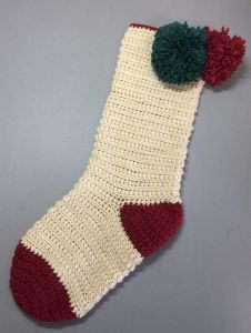 Pompom Christmas Stocking