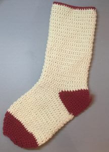 Plain Christmas stocking