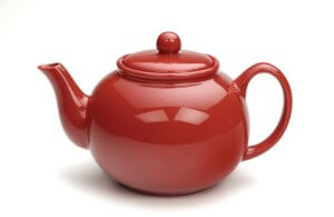 Naked Red Teapot