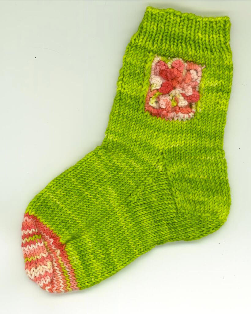 Flower Sock Knitting Pattern by Edie Eckman