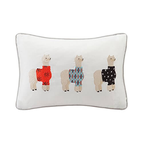 Alpaca Sweater Weather Embroidered Pillow