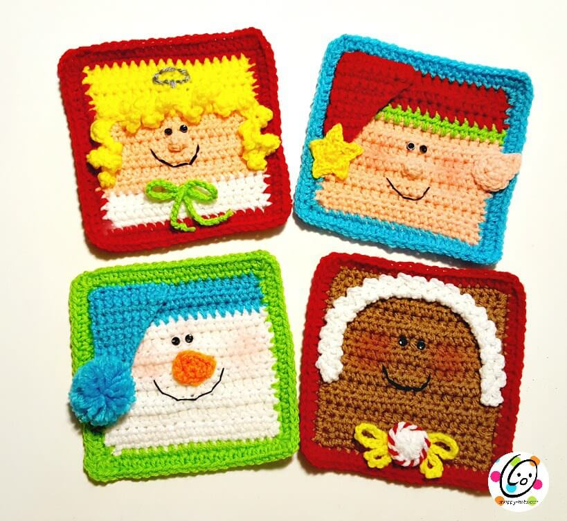 Holiday Friends Home Decor crochet