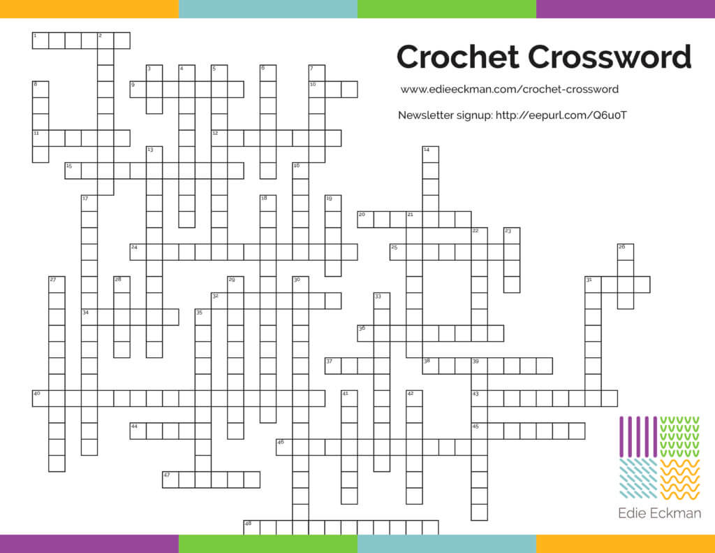Crochet Crossword puzzle free