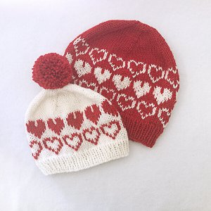 Knit Hearts All Around Hat Valentine's