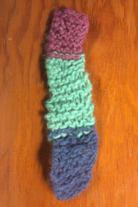 Teach Child to Knit Beginner Scarf