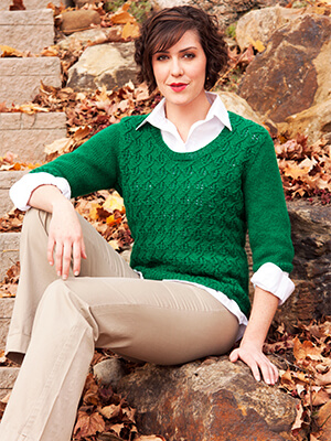 Lace Lattice Sweater Knitting Pattern by Edie Eckman