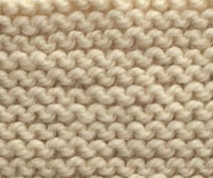 knitted garter stitch closeup