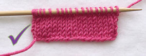 stockinette stitch with smooth cast on
