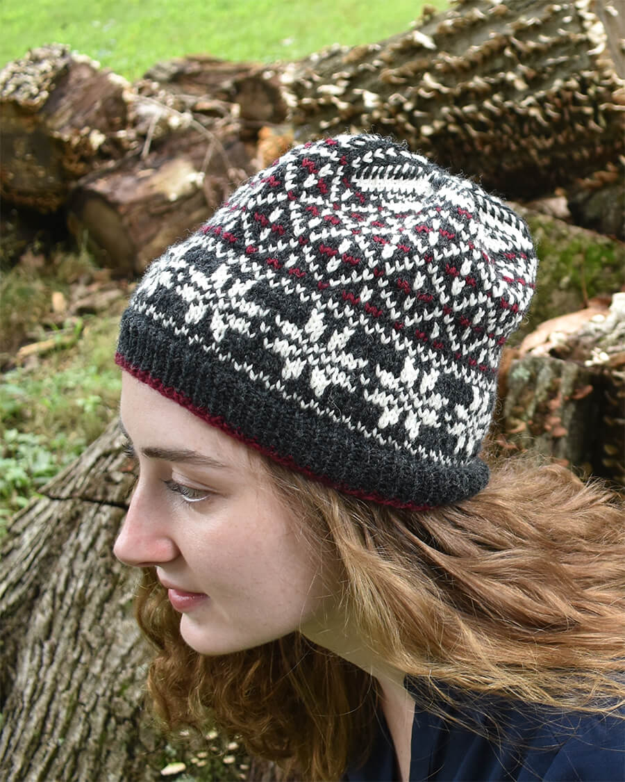 Norwegian Dream Hat Knitting Pattern by Edie Eckman