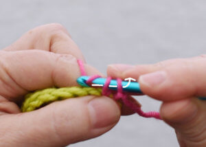 standing single crochet step 4