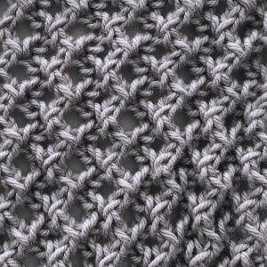 Easy Lacy Rib swatch in grey
