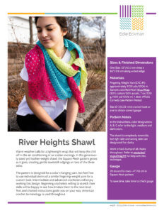 River Heights Shawl crochet pattern first page