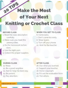 20 Tips to Make the Most of Your Next Knitting or Crochet Class