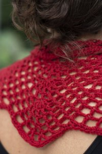 Crimson Cowl  designed by Edie Eckman for Universal Yarn