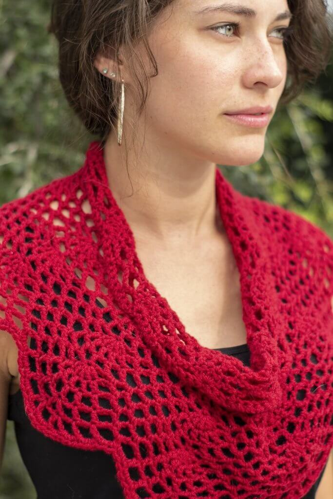 Crimson Cowl Universal Yarn designed by Edie Eckman