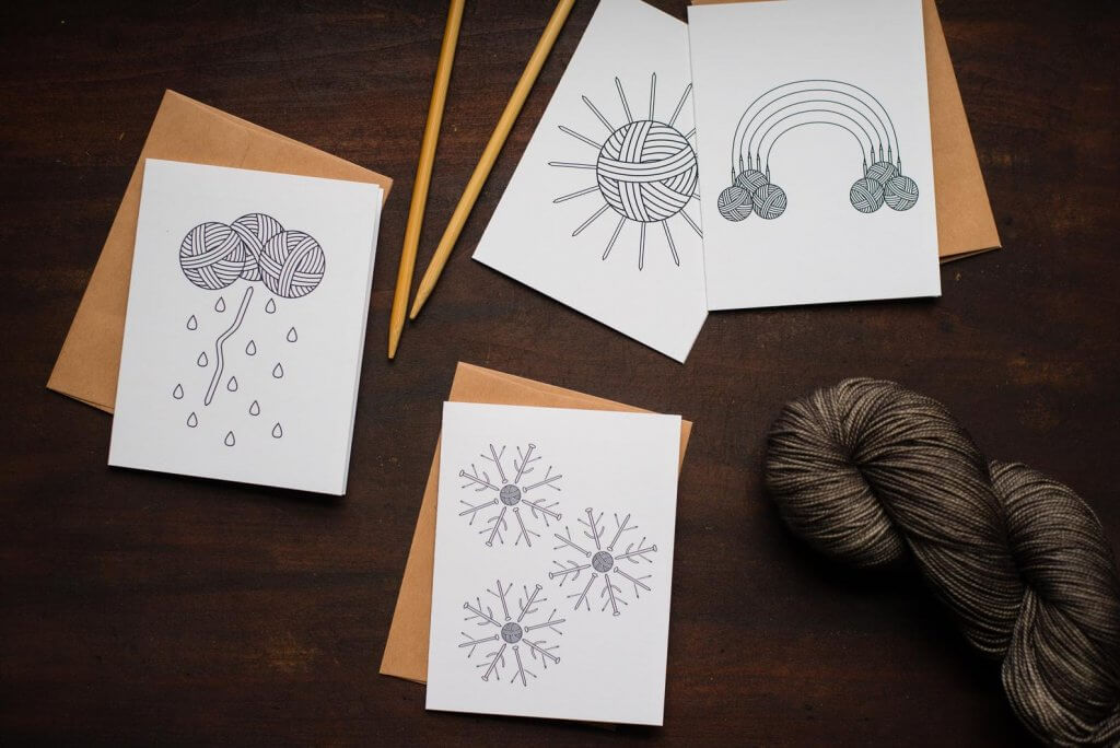 Adknits note cards