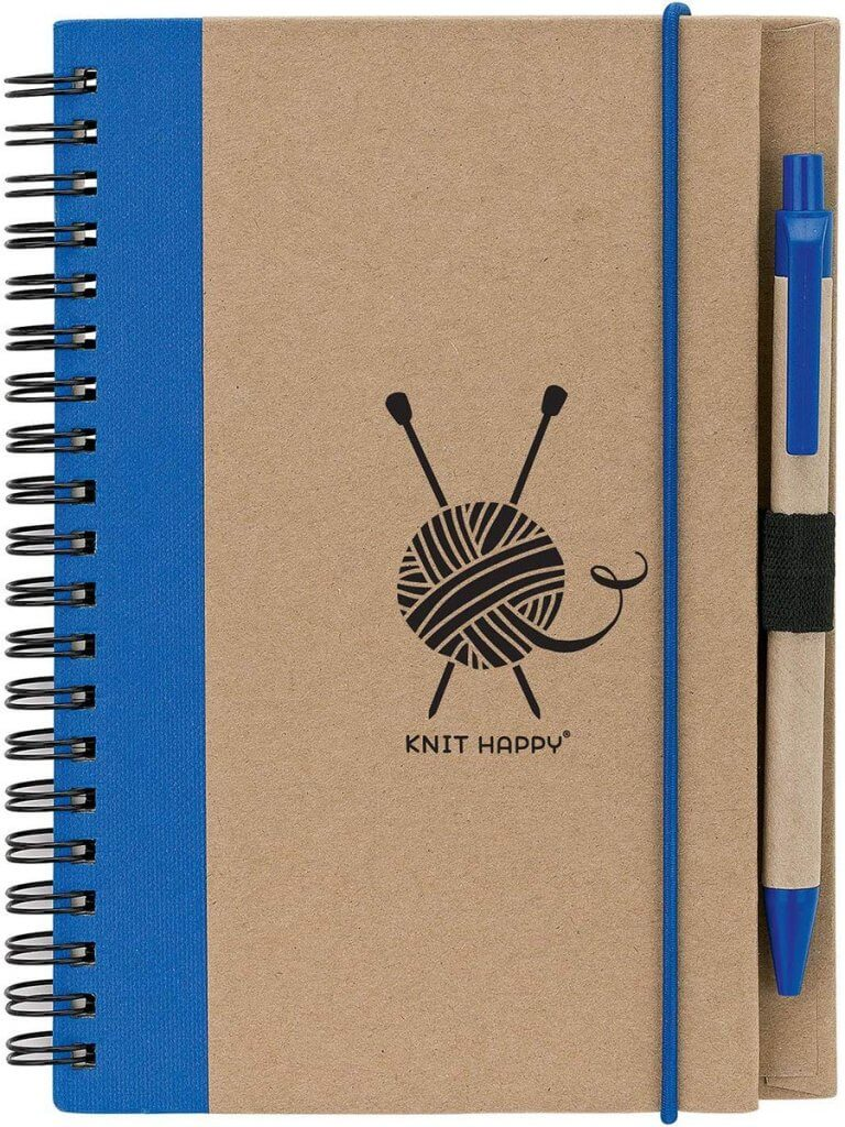 Knit Happy Eco Journal with Pen