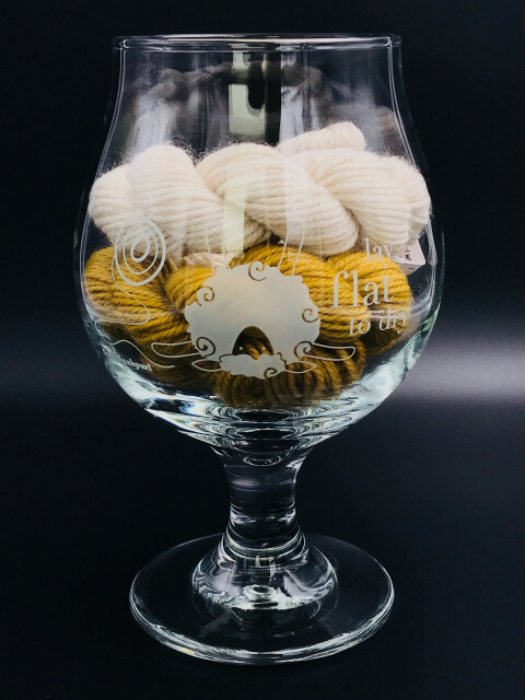KnitBaahPurl Belgian Style Beer Glass