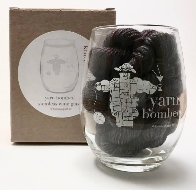 KnitBaahPurl Wine Glass