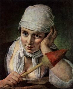 Pietro_Antonio_Rotari, Young Girl with Distaff
