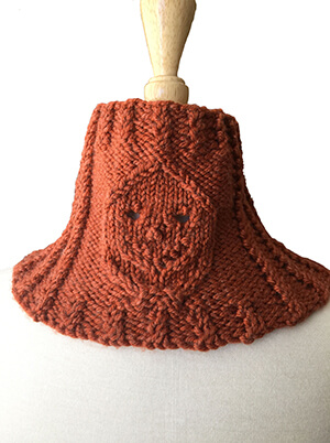 Halloween Neckwarmer Knitting Pattern by Edie Eckman