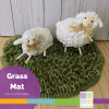 Crocheted Grass Mat Circle with Loop Stitch
