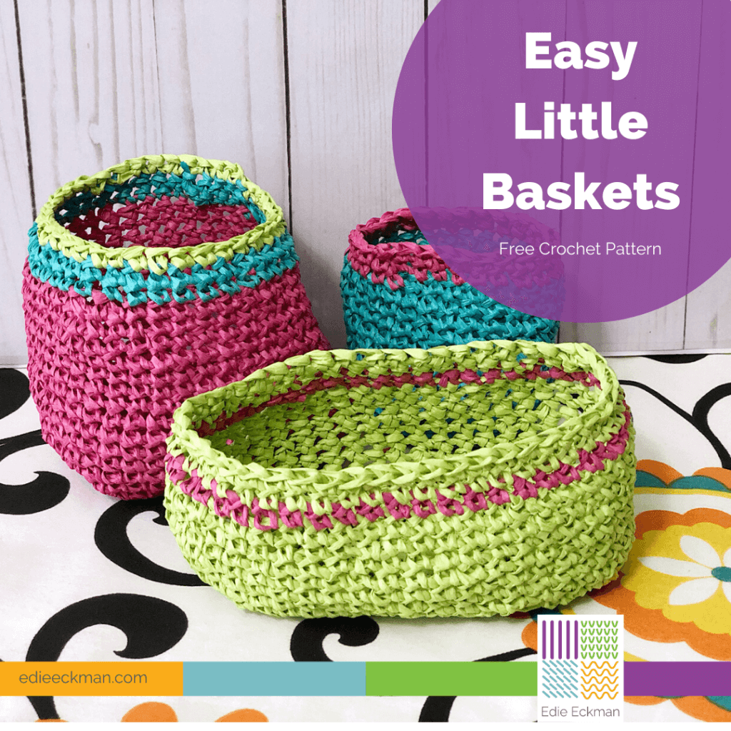 Easy Little Baskets Free Crochet Pattern