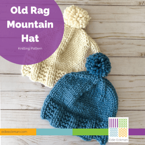 Old Rag Mountain Hat-blue hat and white hat with pompoms