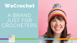 We Crochet Featured Image with Girl in Hat