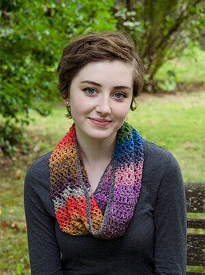 Easy-to-Wear Cowl Crochet Pattern designed by Edie Eckman