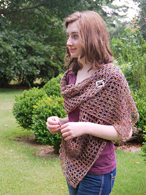 Stacie Stole Crochet Pattern by Edie Eckman