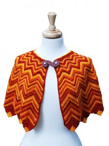 Flame Tipped Shawl Knitting Pattern by Edie Eckman