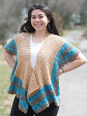 Melbourne Shawl Crochet Pattern by Edie Eckman