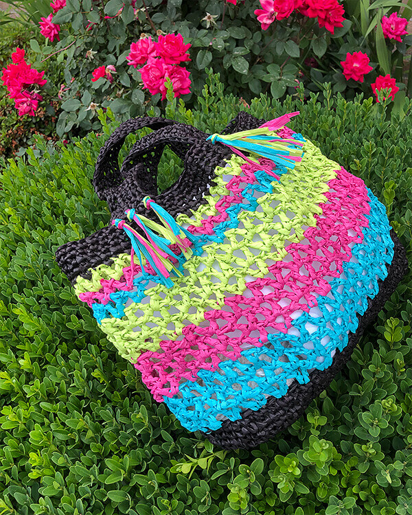Fernandina Beach Bag Crochet Pattern by Edie Eckman
