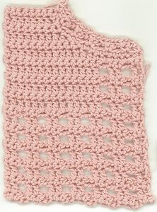 swatch of crocheted fabric
