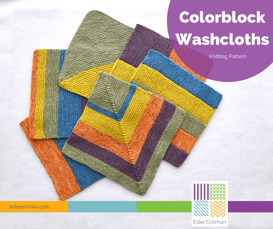 Easy Knitting Colorblock Washcloths