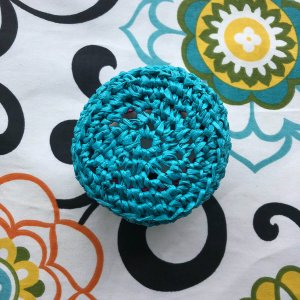 Easy Little Crochet Basket Round, bottom view