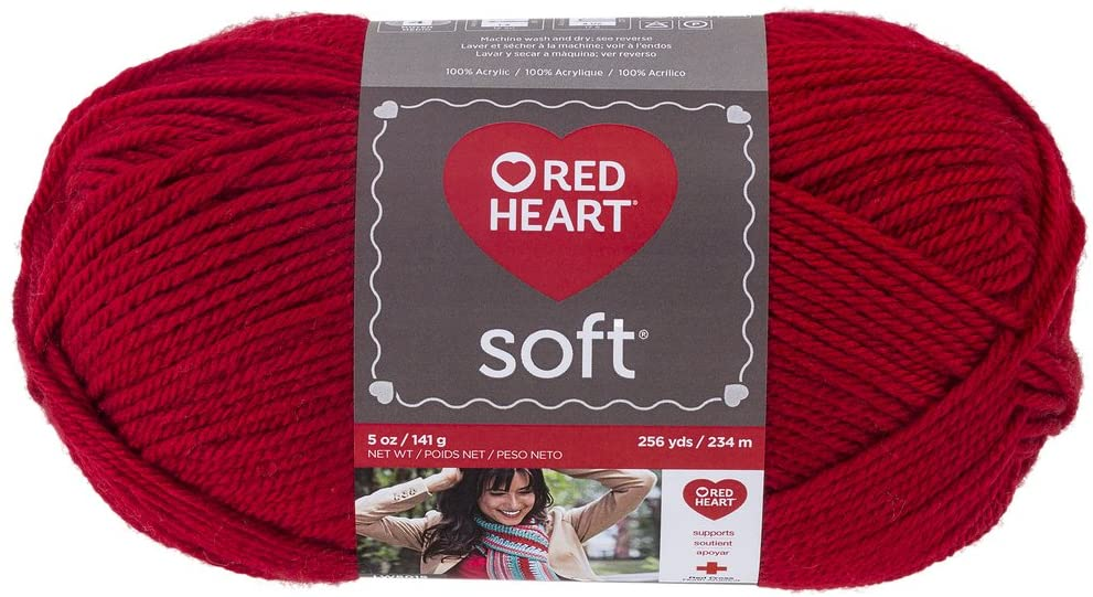 image of Red Heart Soft yarn in color Really Red