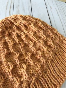 Turk Mountain Hat by Edie Eckman reverse side of fabric