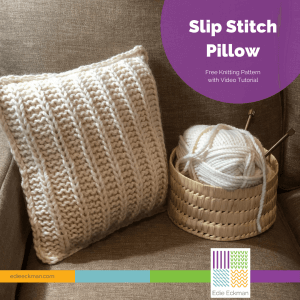 Easy Slip Stitch Pillow