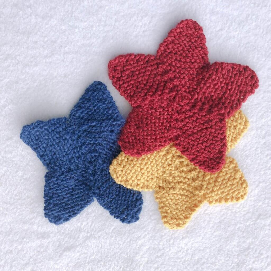 Red, yellow and blue star coasters