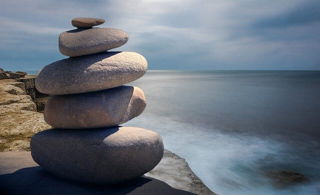 stacked stones-be patient in an online class