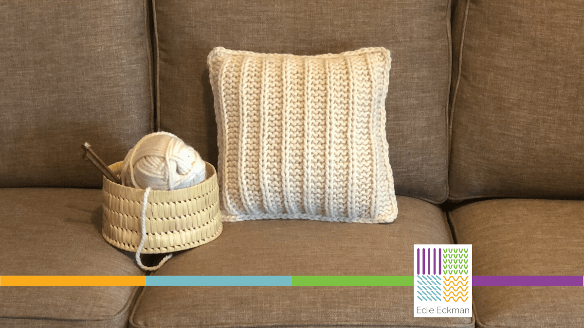 Slip Stitch Pillow by Edie Eckman