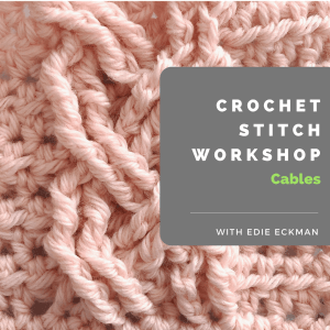 pink crocheted cable close-up, Crochet Stitch Workshop: Cables